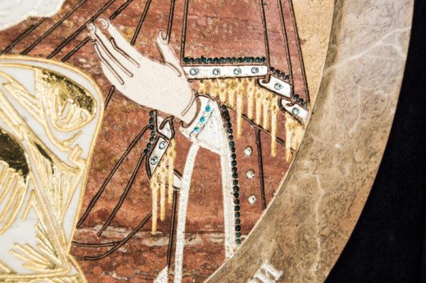 Икона Жировицкой (Жировичской) Божией Матери № п-12 из мрамора, камня, изображение, фото 4