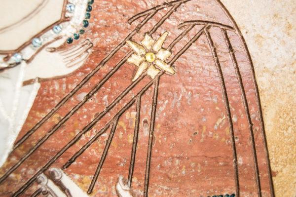 Икона Жировицкой (Жировичской) Божией Матери № п-12 из мрамора, камня, изображение, фото 3