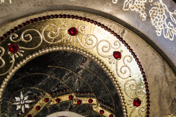 Икона Жировицкой (Жировичской) Божией Матери № п-13 из мрамора, камня, изображение, фото 9