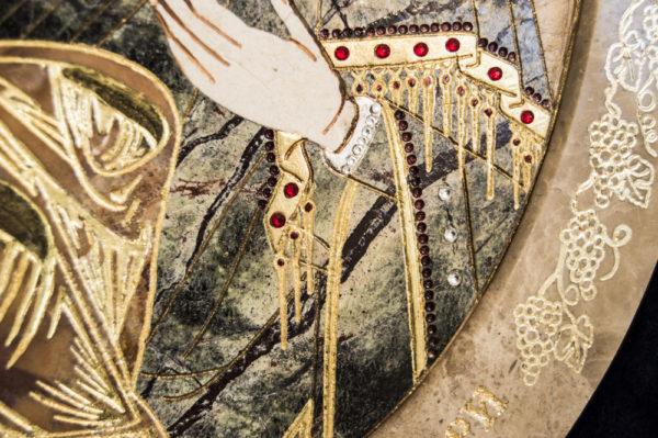 Икона Жировицкой (Жировичской) Божией Матери № п-13 из мрамора, камня, изображение, фото 3