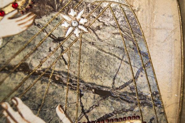 Икона Жировицкой (Жировичской) Божией Матери № п-13 из мрамора, камня, изображение, фото 4