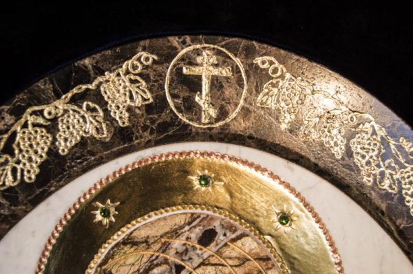 Икона Жировицкой (Жировичской) Божией Матери № п-14 из мрамора, камня, изображение, фото 1