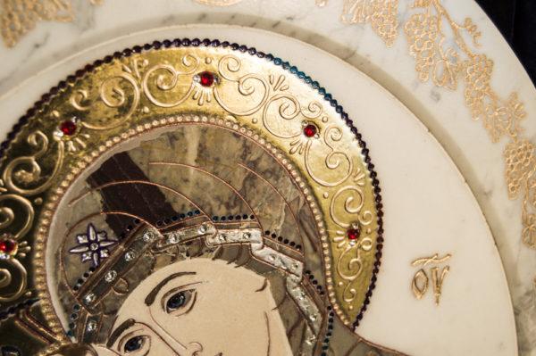 Икона Жировицкой (Жировичской) Божией Матери № п-18 из мрамора, камня, изображение, фото 10