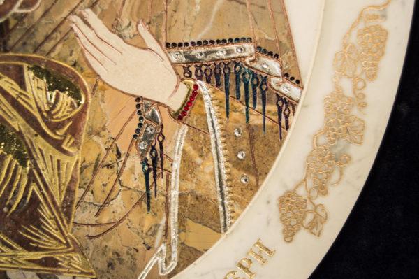Икона Жировицкой (Жировичской) Божией Матери № п-18 из мрамора, камня, изображение, фото 4