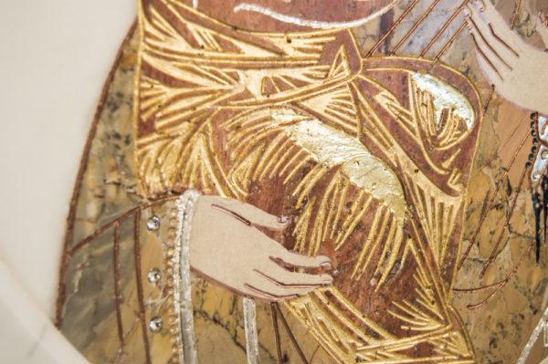 Икона Жировицкой (Жировичской) Божией Матери № п-18 из мрамора, камня, изображение, фото 5