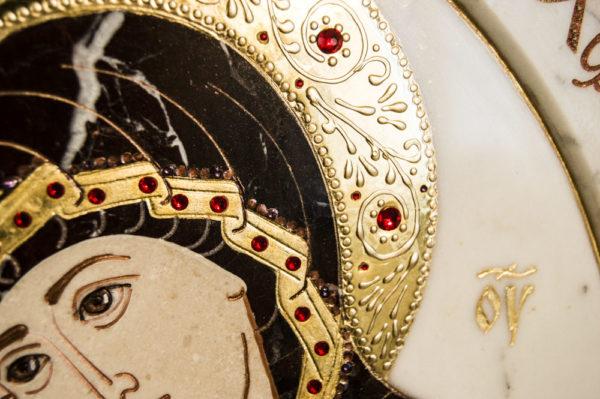 Икона Жировицкой (Жировичской) Божией Матери № п-19 из мрамора, камня, изображение, фото 6