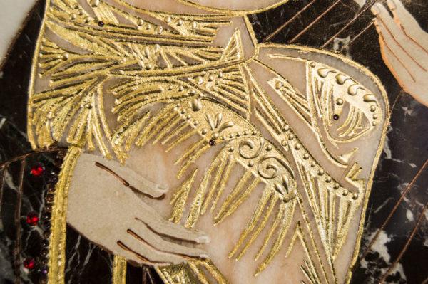 Икона Жировицкой (Жировичской) Божией Матери № п-19 из мрамора, камня, изображение, фото 5
