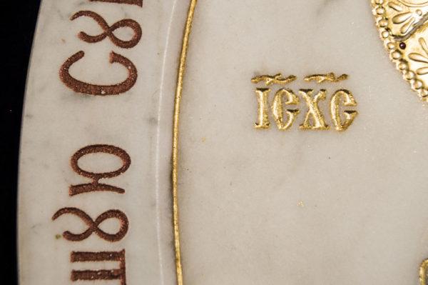 Икона Жировицкой (Жировичской) Божией Матери № п-19 из мрамора, камня, изображение, фото 8