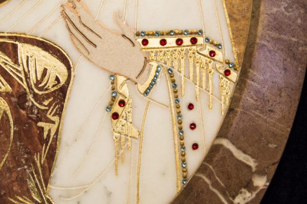 Икона Жировицкой (Жировичской) Божией Матери № п-20 из мрамора, камня, изображение, фото 5