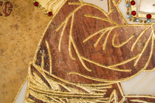Икона Жировицкой (Жировичской) Божией Матери № п-20 из мрамора, камня, изображение, фото 6