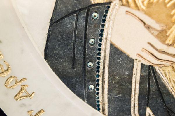 Икона Жировицкой (Жировичской) Божией Матери № п-21 из мрамора, камня, изображение, фото 5