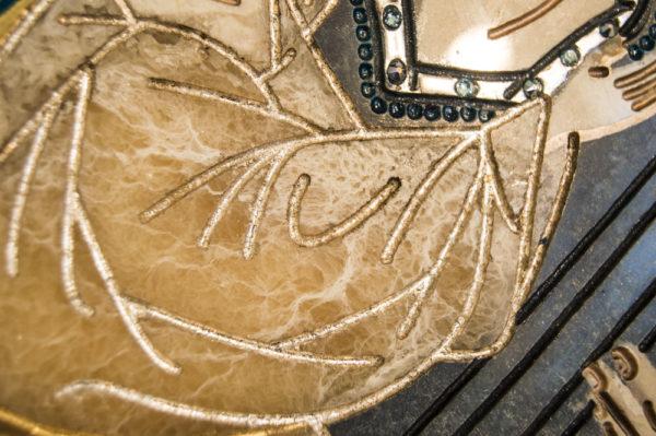 Икона Жировицкой (Жировичской) Божией Матери № п-21 из мрамора, камня, изображение, фото 3
