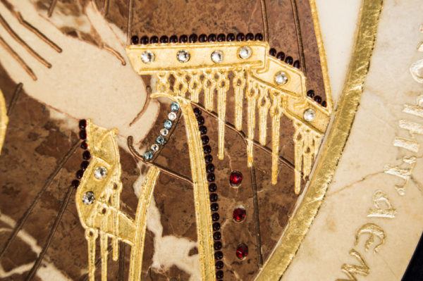 Икона Жировицкой (Жировичской) Божией Матери № п-22 из мрамора, камня, изображение, фото 2