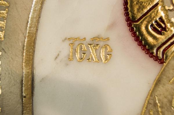 Икона Жировицкой (Жировичской) Божией Матери № п-22 из мрамора, камня, изображение, фото 6