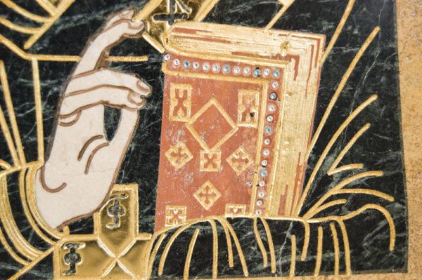 Икона Николая Чудотворца (Угодника) инд.№ 05 из мрамора, камня, изображение, фото 7