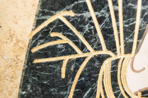 Икона Николая Чудотворца (Угодника) инд.№ 05 из мрамора, камня, изображение, фото 4
