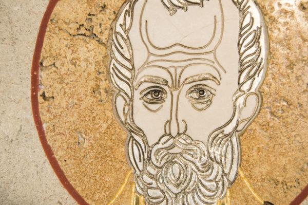 Икона Николая Чудотворца (Угодника) инд.№ 06 из мрамора, камня, изображение, фото 3