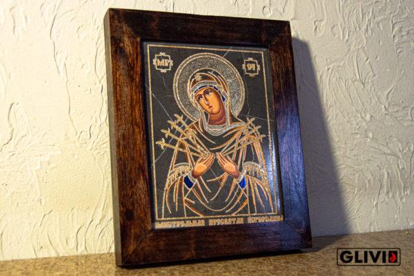Икона Божией Матери Семистрельной № 1 из камня, камня, изображение, фото 3