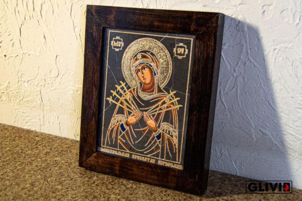 Икона Божией Матери Семистрельной № 1 из камня, камня, изображение, фото 1