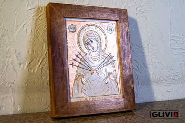 Икона Божией Матери Семистрельной № 2 из камня, камня, изображение, фото 2