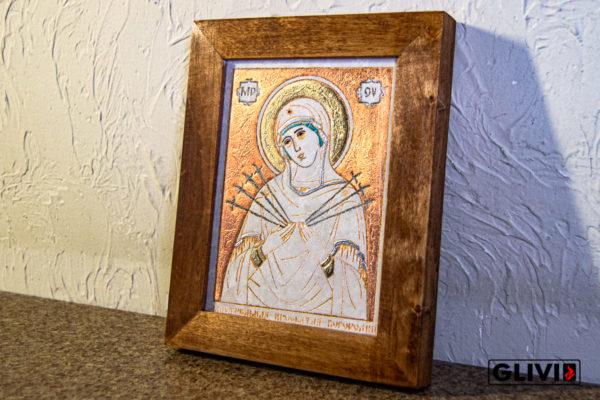 Икона Божией Матери Семистрельной № 2 из камня, камня, изображение, фото 1