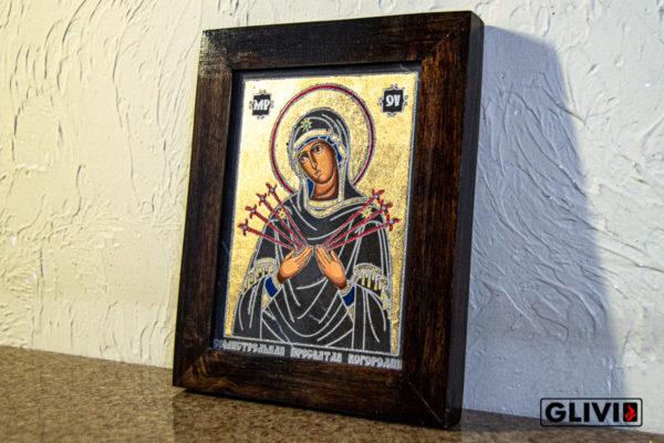 Икона Божией Матери Семистрельной № 3 из камня, камня, изображение, фото 1