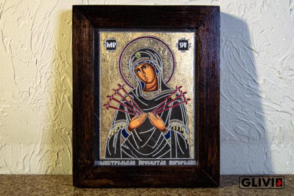 Икона Божией Матери Семистрельной № 3 из камня, камня, изображение, фото 2