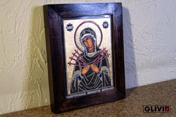 Икона Божией Матери Семистрельной № 3 из камня, камня, изображение, фото 3