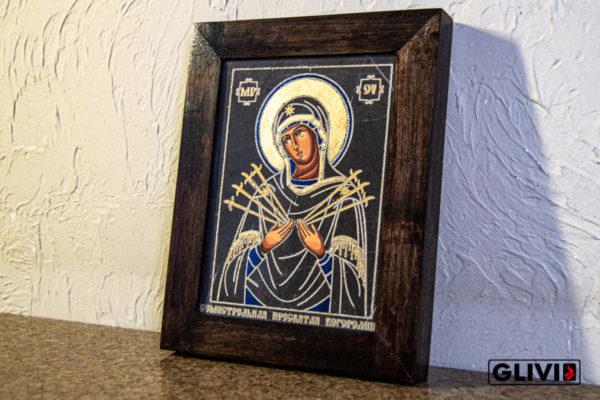 Икона Божией Матери Семистрельной № 4 из камня, камня, изображение, фото 3