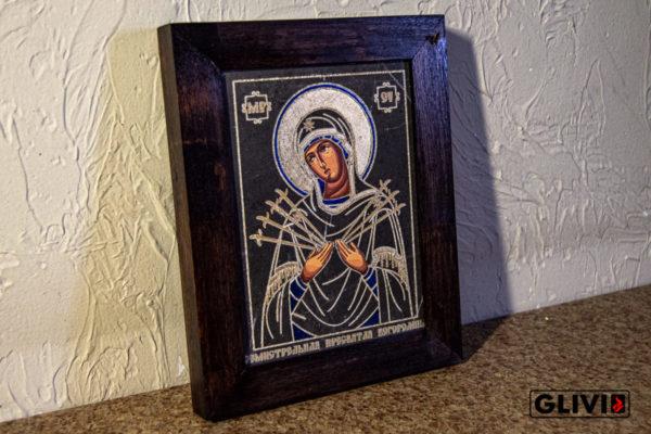 Икона Божией Матери Семистрельной № 4 из камня, камня, изображение, фото 1
