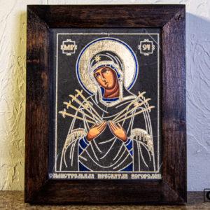 Икона Божией Матери Семистрельной № 4 из камня, камня, изображение, фото 2
