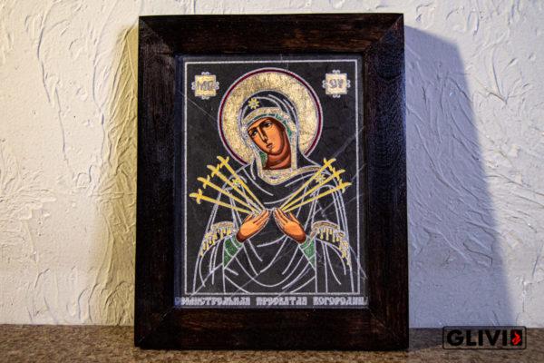 Икона Божией Матери Семистрельной № 5 из камня, камня, изображение, фото 2