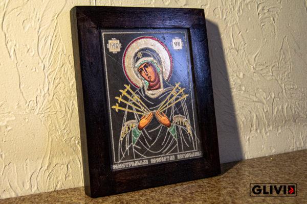 Икона Божией Матери Семистрельной № 5 из камня, камня, изображение, фото 1