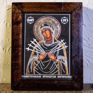 Икона Божией Матери Семистрельной № 6 из камня, камня, изображение, фото 2