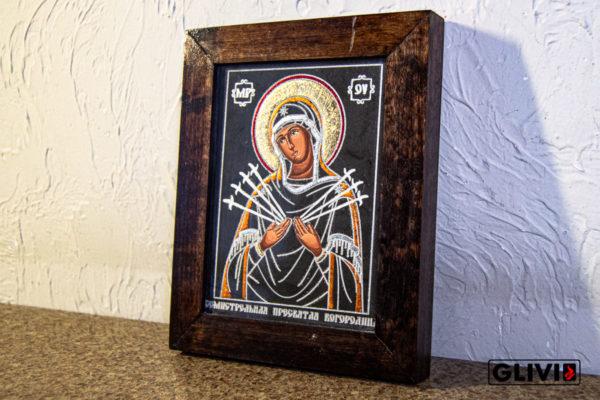 Икона Божией Матери Семистрельной № 6 из камня, камня, изображение, фото 3