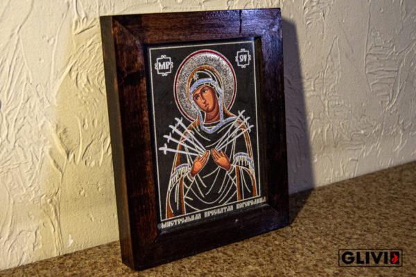 Икона Божией Матери Семистрельной № 6 из камня, камня, изображение, фото 1