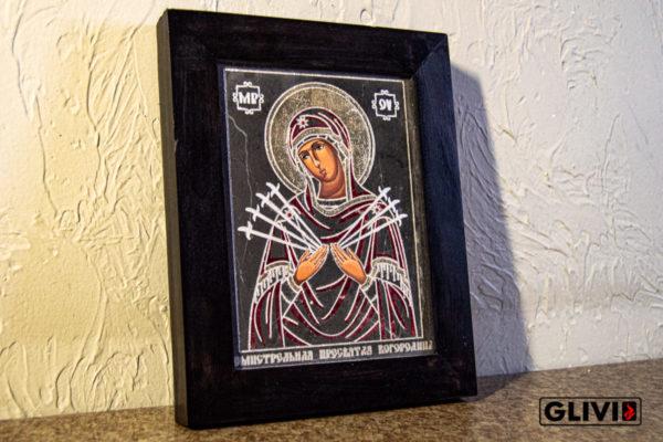Икона Божией Матери Семистрельной № 7 из камня, камня, изображение, фото 3