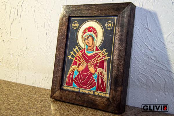 Икона Божией Матери Семистрельной № 9 из камня, камня, изображение, фото 1