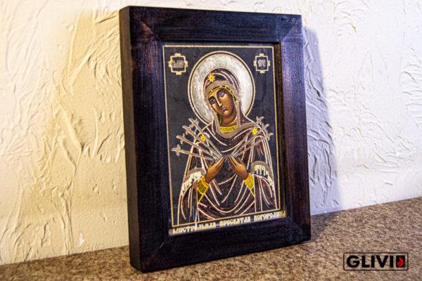 Икона Божией Матери Семистрельной № 10 из камня, камня, изображение, фото 1