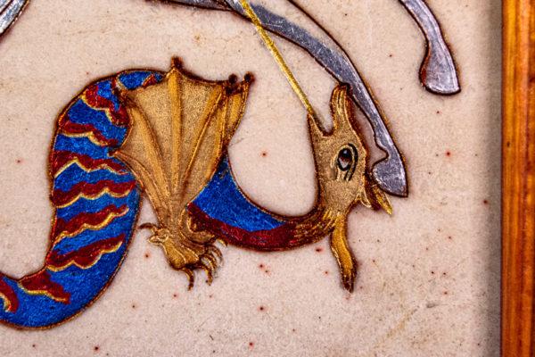 Икона Святого Георгия Победоносца № 01 из мрамора на коне, каталог, изображение, фото 5
