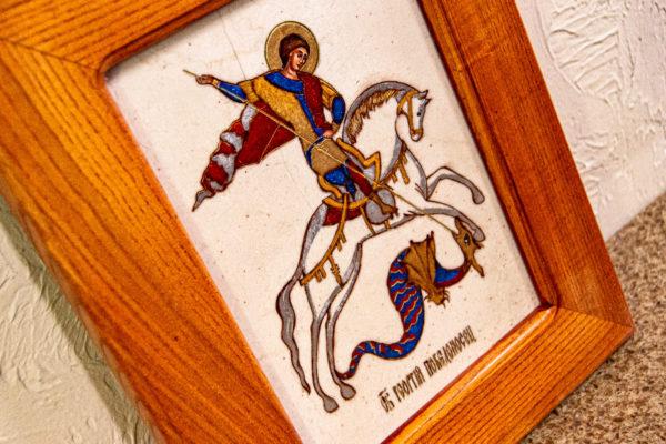 Икона Святого Георгия Победоносца № 01 из мрамора на коне, каталог, изображение, фото 10