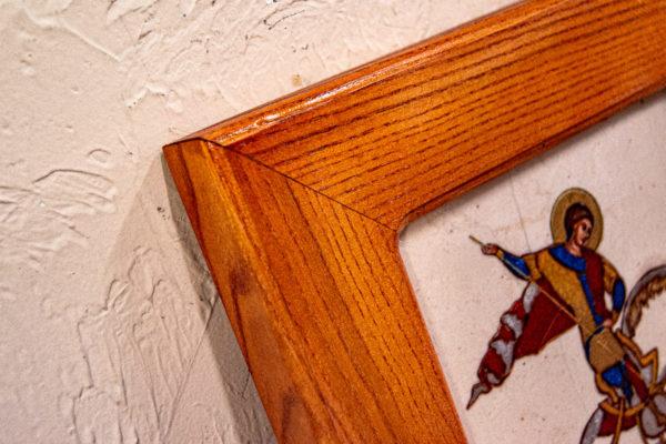 Икона Святого Георгия Победоносца № 01 из мрамора на коне, каталог, изображение, фото 11