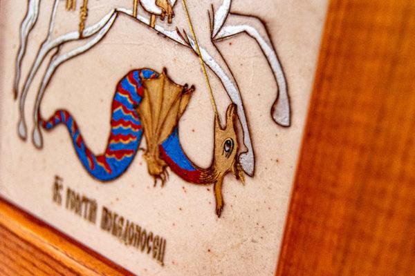 Икона Святого Георгия Победоносца № 01 из мрамора на коне, каталог, изображение, фото 13