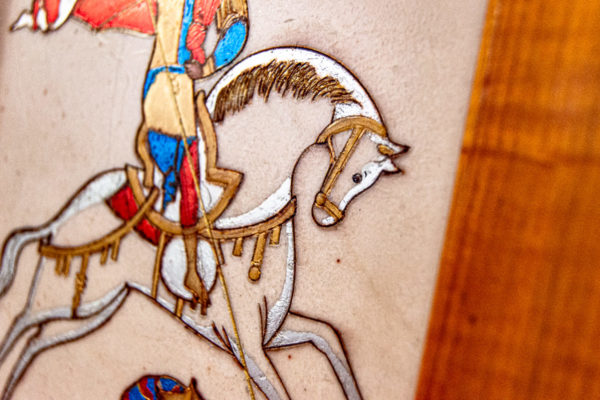 Икона Святого Георгия Победоносца № 01 из мрамора на коне, каталог, изображение, фото 14