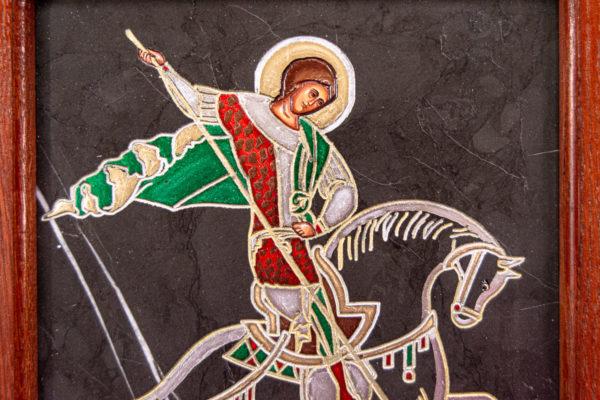Икона Святого Георгия Победоносца № 02 из мрамора на коне, каталог, изображение, фото 16