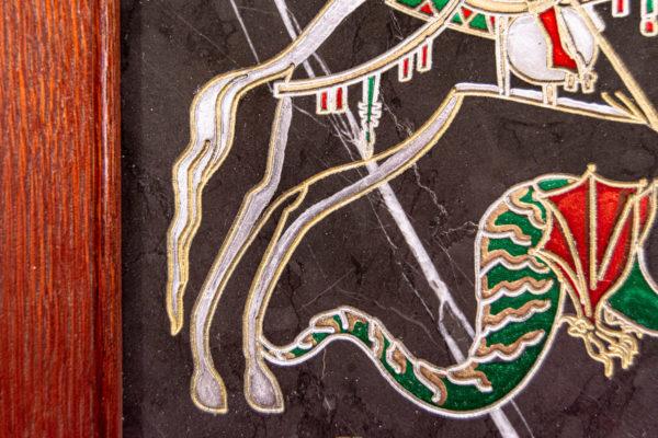 Икона Святого Георгия Победоносца № 02 из мрамора на коне, каталог, изображение, фото 10