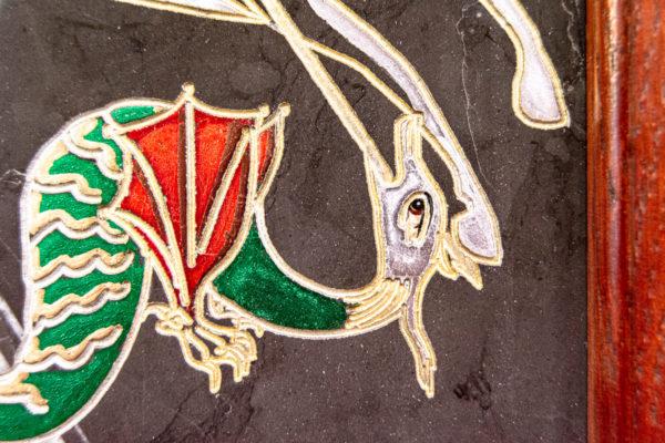 Икона Святого Георгия Победоносца № 02 из мрамора на коне, каталог, изображение, фото 11