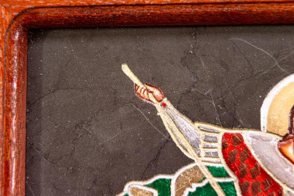 Икона Святого Георгия Победоносца № 02 из мрамора на коне, каталог, изображение, фото 12