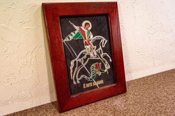 Икона Святого Георгия Победоносца № 02 из мрамора на коне, каталог, изображение, фото 13