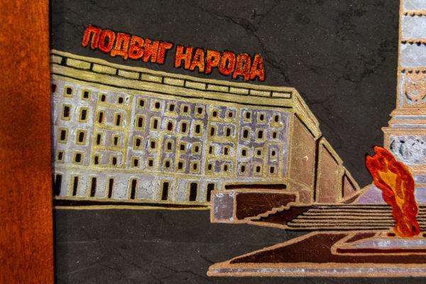 Сувенир (подарок) из натурального камня Площадь победы в Минске № 2, изображение, фото 2